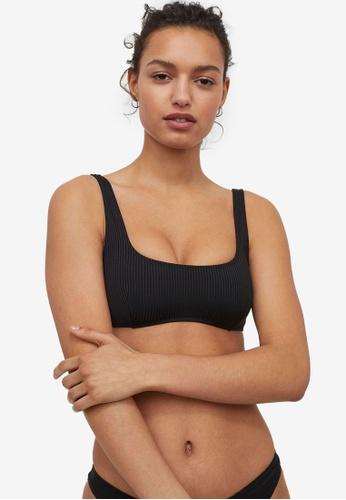 H&M black Padded Bikini Top 68C85USAB6DAFAGS_1