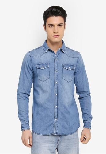 Cotton On blue 91 Shirt 604DFAAF05C47DGS_1