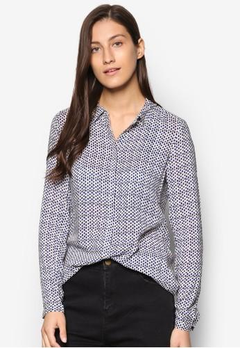 印花長袖襯衫、 服飾、 服飾ESPRIT印花長袖襯衫最新折價