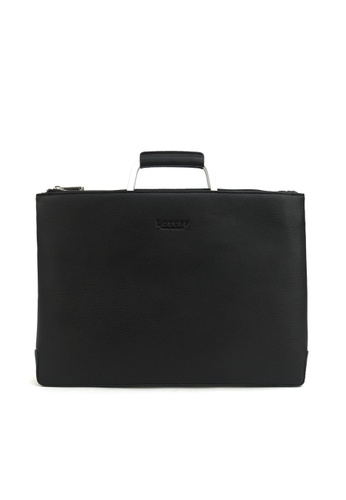 Kawamura black Lotuff Simple Clutch & Briefcase - Black KA610AC87PNOPH_1