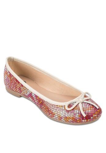Chatain 蝴蝶esprit 眼鏡結蛇紋平底鞋, 女鞋, 鞋