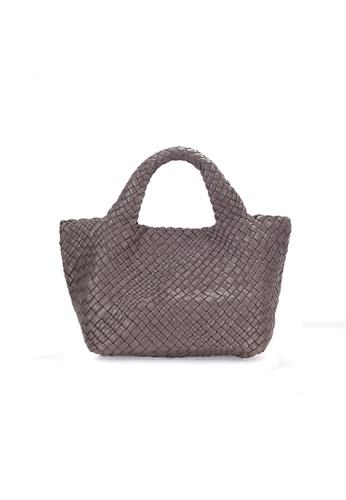 Buy Shu Talk FALORNI Woven Leather Tote Handbag Online on ZALORA ...