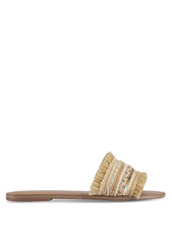 ALDO gold Castlerock Flat Sandals 1B8C5SHDDC8910GS_1
