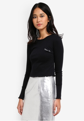 TOPSHOP black Petite 'Dream On' T-Shirt 6289CAAE3C3CCBGS_1