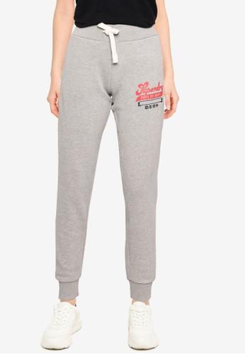 Superdry grey Collegiate Scripted Jogger Pants - Original & Vintage 79486AA9BAB3FDGS_1