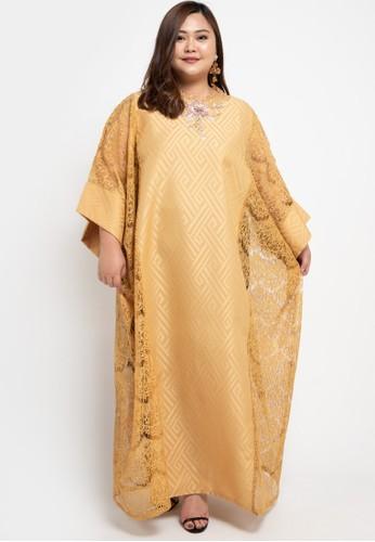 LUIRE by Raden Sirait gold Plus Size MS Kaftan Cetar LZB B92F2AA49FDD45GS_1