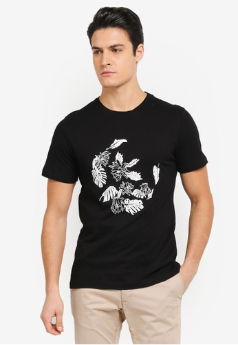 ZALORA black Printed Floral Ring Tee 20A00AA2C5B2D8GS_1