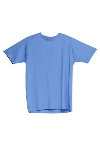 UniqTee blue Raglan Crew Neck Tee 4F2F9AA6D25D41GS_1