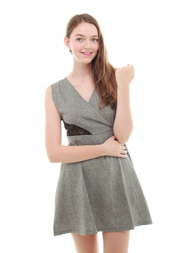 Leline Style grey Wendy LaceBack Chic Dress LE802AA66ECNSG_1
