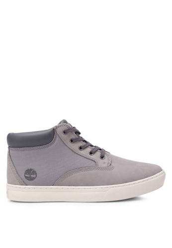 Timberland grey Dauset Fabric and Leather Chukkas TI063SH0SB95MY_1