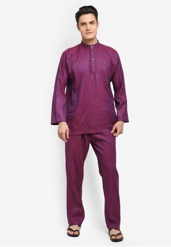 Mayasilk purple Baju Melayu SB Line Dainty Print 33B7AAA60B3CBDGS_1