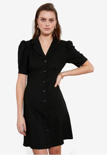 Trendyol black Button Down Shirt Dress 7A603AA7C4DA5BGS_1