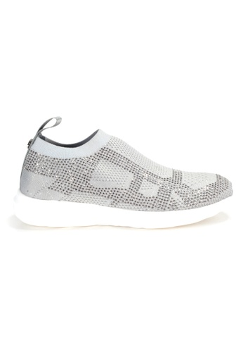 Shu Talk grey Amaztep Stretch Yarn Comfortable Sneakers B66CASH06A3AAAGS_1