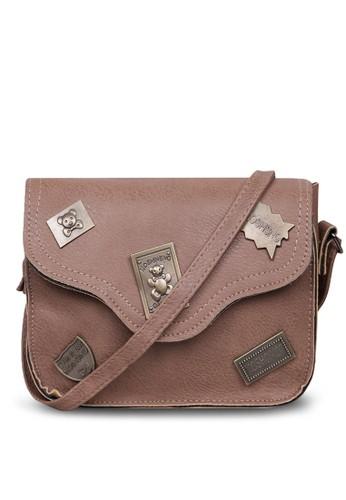 Quincy Label brown Quincy Label - Mosh Fashion Sling Bag Import - Cokelat 358F3AC9891EA0GS_1