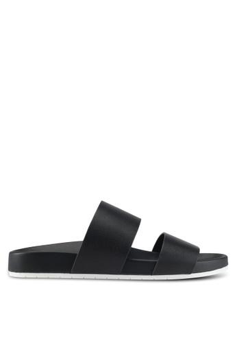 ALDO black Eraveth Flat Sandals 4730ASH4132E58GS_1