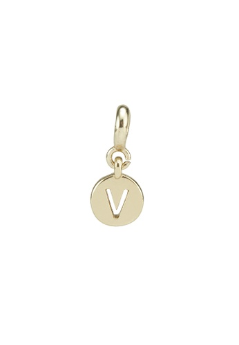 My Flash Trash gold Gold letter charm v 51B6EAC62F8751GS_1