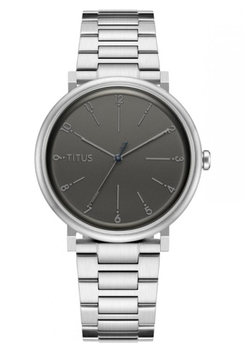 Solvil et Titus grey and silver Nordic Tale Men's 3 Hands Quartz Watch In Gun Dial And Stainless Steel Bracelet 84608AC58830CEGS_1