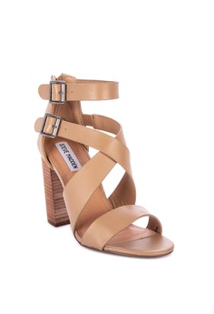 4f028fcc8e68 40% OFF Steve Madden Sundance Leather Strappy Heeled Sandals Php 6