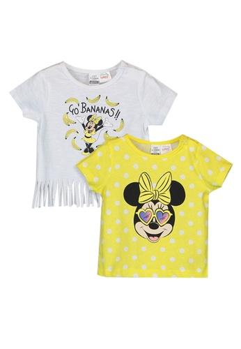 LC Waikiki white Baby Girl Minnie Mouse T-Shirt 2-Pack 1ED09KA14B6E8CGS_1
