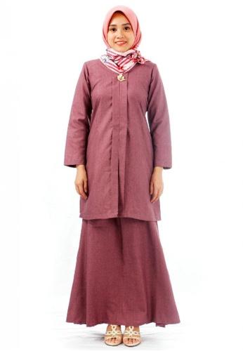 KAMDAR pink Ezzahayla  Kebarung -Dull Pink 36C67AA3A75A1DGS_1