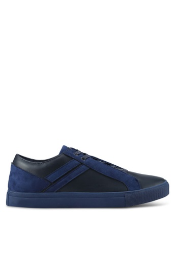 ZALORA navy Contemporary Mixed Materials Sneakers 67D14SHB652023GS_1