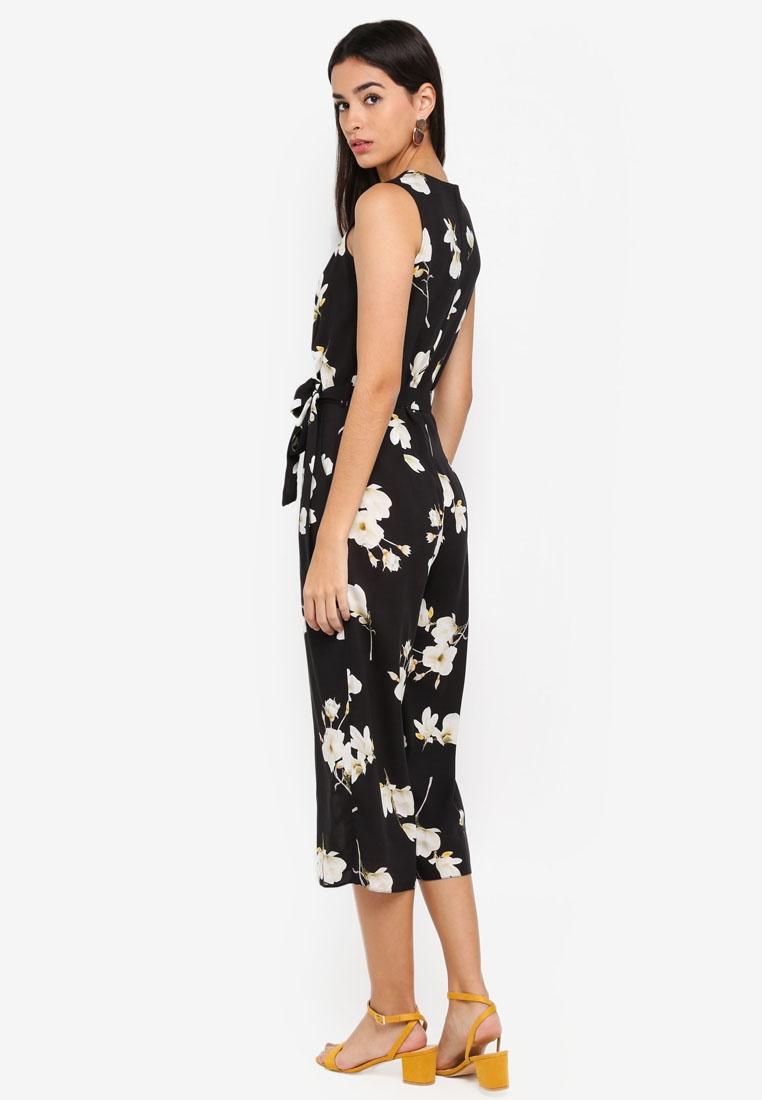 Wrap Dorothy Floral Black Jumpsuit Perkins SFFXgqxE