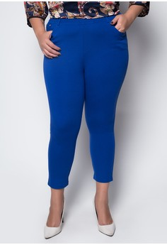 Plus Size Ankle Length Trousers 3003
