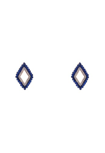 Triangle Beaded Studesprit 面試 Earrings, 飾品配件, 耳釘