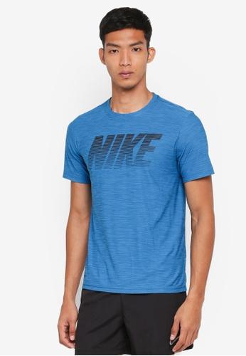 Nike black and blue Men's Nike Breathe Dry Top 88879AA206AEBFGS_1