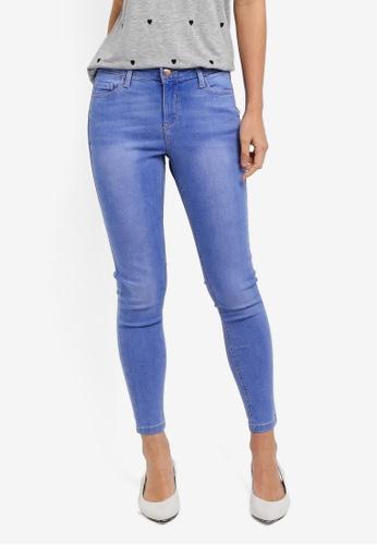 Dorothy Perkins blue Sky Blue 'Darcy' Skinny Jeans C8A6FAA94FCC75GS_1