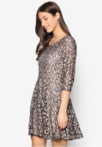 Dotinaesprit outlet 家樂福 蕾絲印花洋裝, 服飾, 洋裝