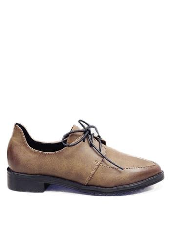 Twenty Eight Shoes 褐色 時尚後包跟綁帶鞋 VL76619 E030DSHAC80F42GS_1