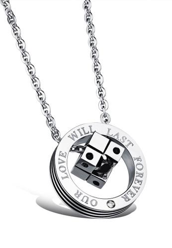 Trendyshop silver Pendant Necklace - Silver 09859AC295DE35GS_1