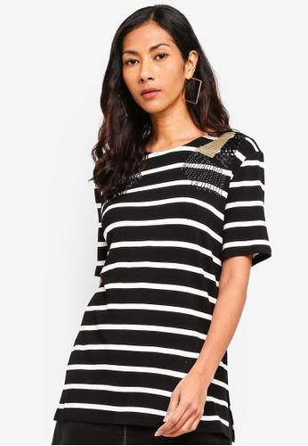 ESPRIT black Short Sleeve T-Shirt 74EB0AA8914CB1GS_1
