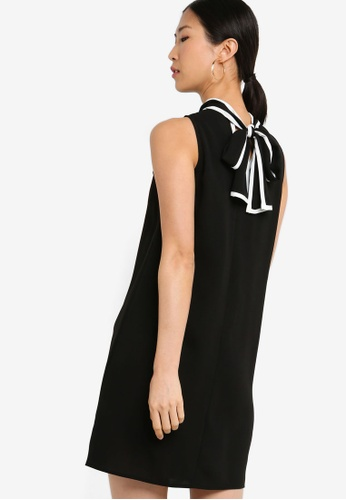 ZALORA BASICS black Basic Dress With Contrast Piping 5F452AA5E4B632GS_1