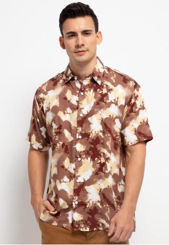Nade brown Nade Japan NTA30 Kemeja Pantai Hawai Kasual Pria Coral Coklat 87762AAAC2534FGS_1