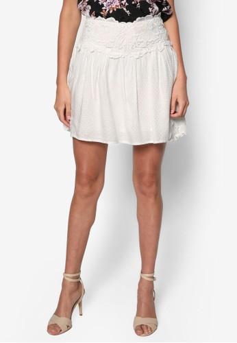 Pezalora時尚購物網評價tite 蕾絲寬擺短裙, 服飾, 裙子