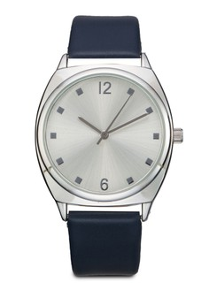 Cubic Dial Analogue Strap Watch