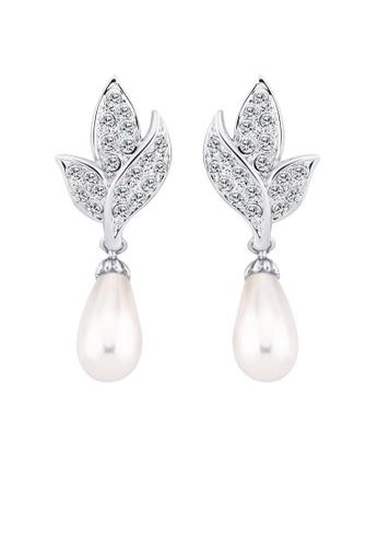 OUXI silver OUXI Pearl Earrings 21290 OU821AC94BKZMY_1
