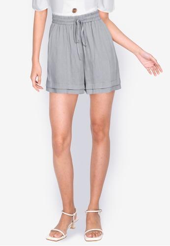 ZALORA BASICS grey Drawstring Shorts C77A3AA5DF1EE7GS_1