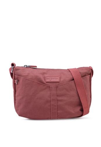 Bagstationz pink Crinkled Nylon Mini Sling Bag ECF3EACE88A8D9GS_1