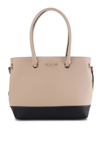 Buy Dorothy Perkins Neutral Tie Side Tote Online on ZALORA Singapore
