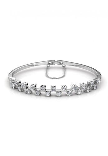 Her Jewellery silver Her Jewellery Sweet Bangle (White Gold) with Premium Grade Crystals from Austria A4E73AC079601DGS_1