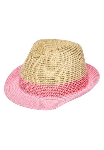 Du Pareil Au Même (DPAM) pink Two Tone Hat 55199KC6D83129GS_1