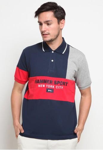 Hammer navy Hammer Men Polo Shirt Fashion D1PF590 N1 Navy 06330AAAF3193CGS_1