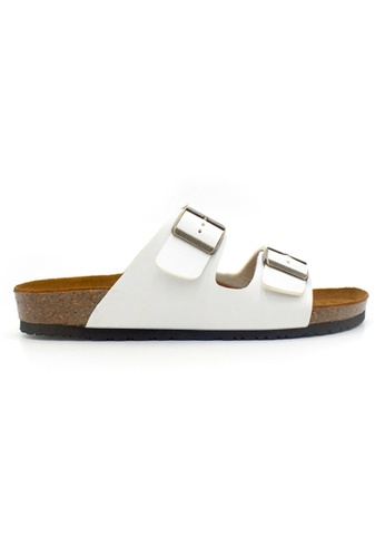 SoleSimple 白色 Athens - 白色 百搭/搭帶 軟木涼鞋 E5FA2SHB377B13GS_1