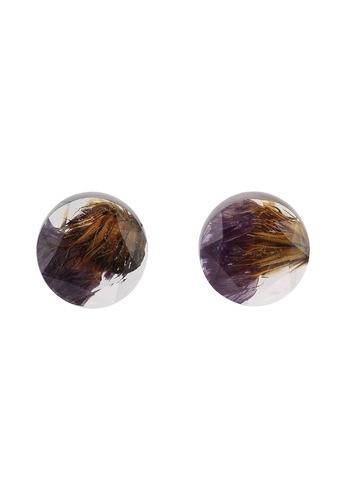 Saturation 多色 紫色 Dream 樹脂 耳環 C4F45AC4EAC28CGS_1