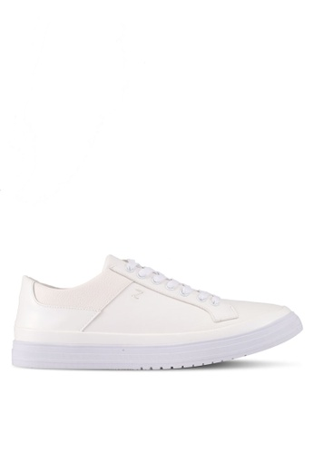 ZALORA white Mixed Materials Sneakers C379DSH357D894GS_1
