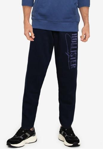 Hollister navy Straight Leg Tech Logo Sweatpants 99A56AAFB5E83BGS_1