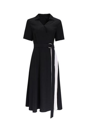 Twenty Eight Shoes black VANSA Pleated Midi Dress  VCW-D14046 77F72AA88A8997GS_1